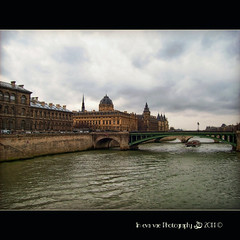 In Paris, on any day .... (in eva vae) Tags: old bridge blue paris france art monument water colors architecture clouds river warm eva arte kodak blu framed fiume gray ponte rue colori francia senna architettura squared parigi digitalcameraclub 100commentgroup inevavae mygearandme