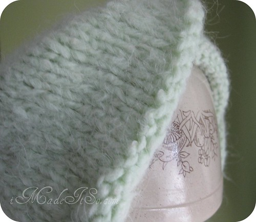 blocking wool hat using a pyrex bowl