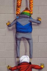 OS GEMEOS (TRUE 2 DEATH) Tags: street art museum graffiti mural sandiego parkinggarage character graf os nike sd gemeos osgemeos thetwins mcasd museumofcontemporaryartsandiego osgemeosmcasd