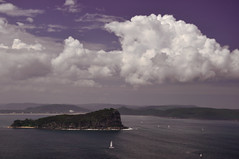 View over Pittwater (Dawn Woodhouse) Tags: sky seascape clouds interesting scenery sydney australia pittwater kuringgai wow1