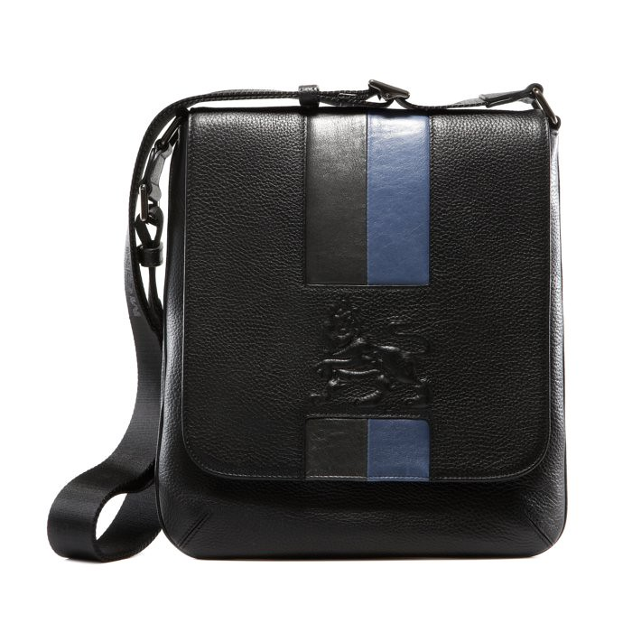 stripe lion_cross bag_black