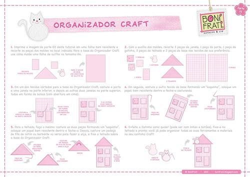 Organizador Craft - Parte 01 (passo-a-passo)