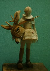 beautiful warrior whit head deer.(front) (Valeria Dalmon) Tags: art animal teatro doll theater head esculturas objetos deer warrior hermosa charge venta textil commissioned guerrera sculpturs valeriadalmon