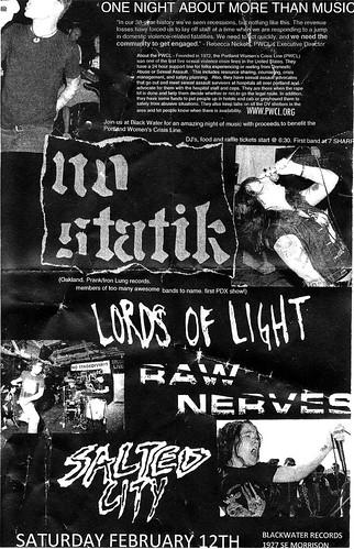 2/12/11 NoStatik/LordsofLight/RawNerves/SaltedCity