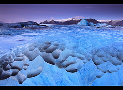 Blue Hour Ice - Jkulsrln, Iceland (orvaratli) Tags: old travel blue winter lake cold ice landscape iceland shapes lagoon glacier iceberg jkulsrln skaftafell vatnajkull hvannadalshnjkur rfajkull arcticarcticphotomountain