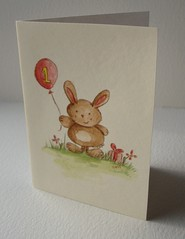 First birthday bunny card