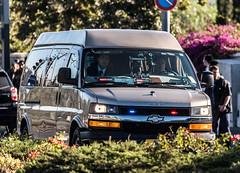 GOV-IL 20160930 07 (rOOmUSh) Tags: chevrolet gray savana strobe shimonperes funeral motorcades