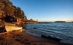 Cottage (Antti Tassberg) Tags: auringonlasku aurinko autumn boat building evening fall helsinki house ilta landscape laru lauttasaari lnsiulapanniemi rakennus sauna sun sundown sunset syksy talo twilight vene