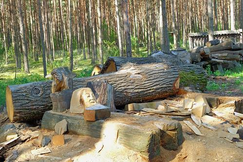 Wood sculpture carving