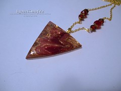 Autumn Mokume Gane (LynzCraftz) Tags: polymerclay resin pendant jewelry necklace oneofakind handmade