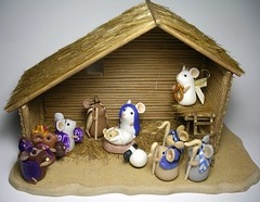 The Mouse Nativity (Quernus Crafts) Tags: christmas mouse polymerclay stable nativity quernuscrafts