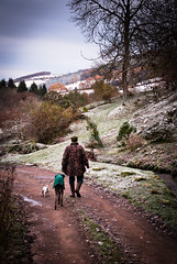 A Winter Walk (Bob Small photography.) Tags: uk winter england dog snow ice dogs tom walking countryside nikon frost britain path mark walk somerset snaps d200 exmoor westsomerset menthedogs