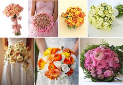 Ranunculs Bridal Wedding Bouquets (One White Dress) Tags: flowers wedding inspiration flower color colour floral beautiful bulb photo pretty photos theme bulbs florist bouquet weddings bridal ideas stylish posy centrepiece ranunculs