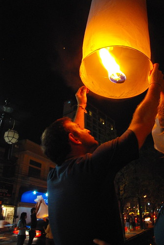 Lanterns at the Loi Krathong Festival, Chang Mai, 2010