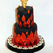 Cadeuces Flame Cake