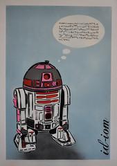 Nobody understands me! (id-iom) Tags: uk pink london graffiti robot starwars stencil talk nobody r2d2 brixton droid understands idiom