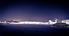 Stockholm Winter (jimmyroq) Tags: winter lake snow cold ice water night dark kyla evening frozen vinter frost sweden stockholm sdermalm low temperature vatten natt hammarby sjstad rimfrost kallt