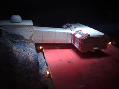 (Space 1999) Eagle Rescue Pod Docked on the Pad at Moon Depot 3. (Man of Yorkshire) Tags: fiction rescue tv pod eagle science scifi depot sciencefiction moonbase space1999 landingpad tvseries gerryanderson supermarionation
