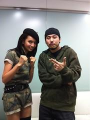 加藤夏希さん @natu_c と写真撮ってもらった!アーミー姿も素敵です ^^