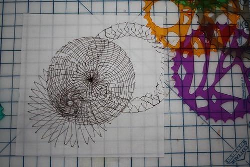 Lines 22 -- spirograph and PITT pen