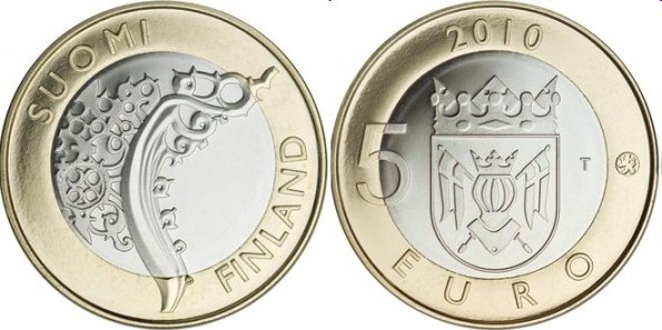 5 Euro Fínsko 2010, provincia Proper