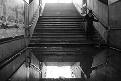 (Donato Buccella / sibemolle) Tags: blackandwhite bw italy reflection beauty rain underground milano ugly mm lotto puddles metropolitana anziani pozzanghera aiutami salvami rainingdays sibemolle asciugami mg5891 chuckbramantrio