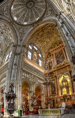 Cathedral in the Mosque (pbr42) Tags: autostitch panorama church architecture spain catholic cathedral mosque andalucia cordoba mezquita hdr qtpfsgui