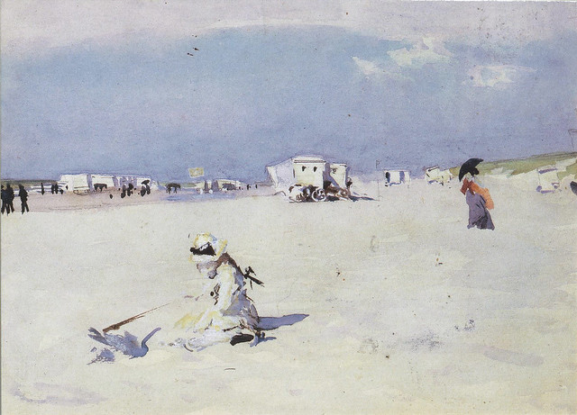 On the Sands, John Singer Sargent, c.1877