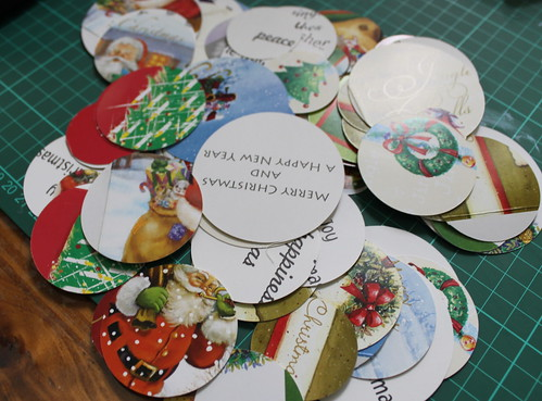 Christmas card circles
