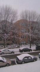 first snow (Katie Tegtmeyer) Tags: street winter white snow cold cars buildings season miniature snowfall chicag
