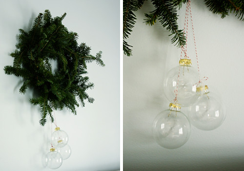 wreath, glass balls
