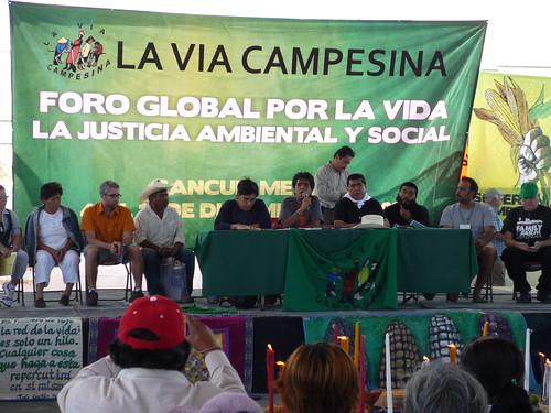 Caravan panel at La Via Campesina