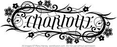 """Charlotte"" Ambigram"
