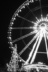 (F.Wael) Tags: christmas winter blackandwhite paris wheel lights concorde ferriswheel