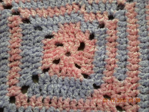 Pink-purple baby blanket
