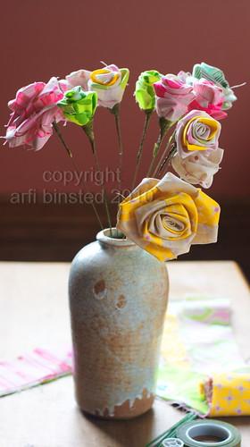 DIY-fabric roses