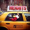 """Santa In The Heights"" (antonkawasaki) Tags: santa nyc newyorkcity portrait sunglasses sign peace candid cab taxi streetphotography squareformat 500x500 iphone4 iphoneography ©antonkawasaki"
