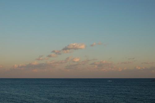 海の夕暮れ
