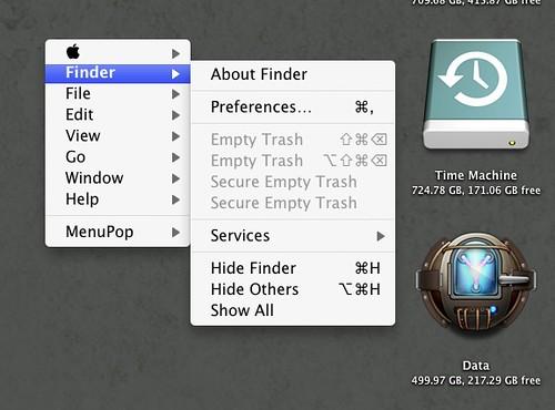 MenuPop screenshots