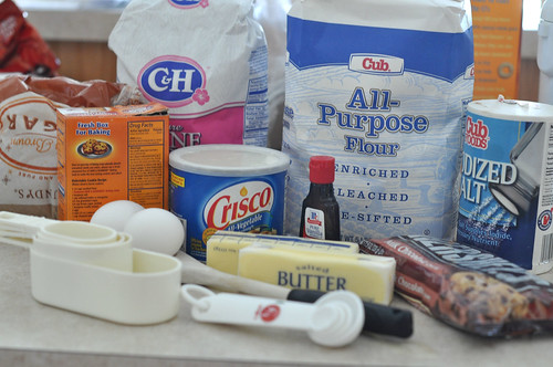 Ingredients for Chocolate Chip Cookies