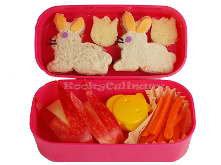 Kids Bento #121 - Bunnies Again!