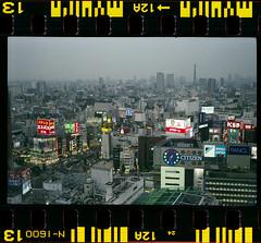 Kabukicho (hirosama) Tags: japan 35mm tokyo shinjuku cityscape  kabukicho   shinjukustation c41  fujinatura1600  voigtlndervitessaiiil