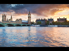 London burning ... (Rob Overcash Photography) Tags: travel sunset sky color london westminster skyline clouds canon artistic dusk parliament bigben landmark burning burst riverthames dri westminsterbridge riversedge northbank cs4 stylistic 3exposure cityonfire robotography 5dmkii robovercashphotography