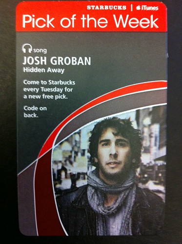 Starbucks iTunes Pick of the Week - Josh Groban - Hidden Away