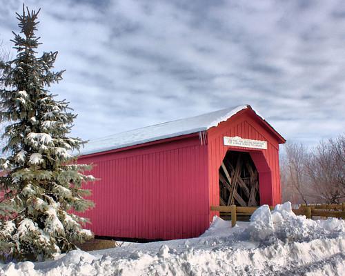 Cold n Snowy Zumbrota Covered Bridge