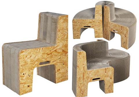 Flexible love muebles hechos con papel reciclado pueden - Muebles de papel ...