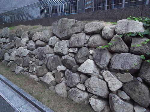 豊臣大坂城の石垣を見てきました...