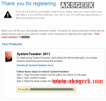systemtweaker2011 license key