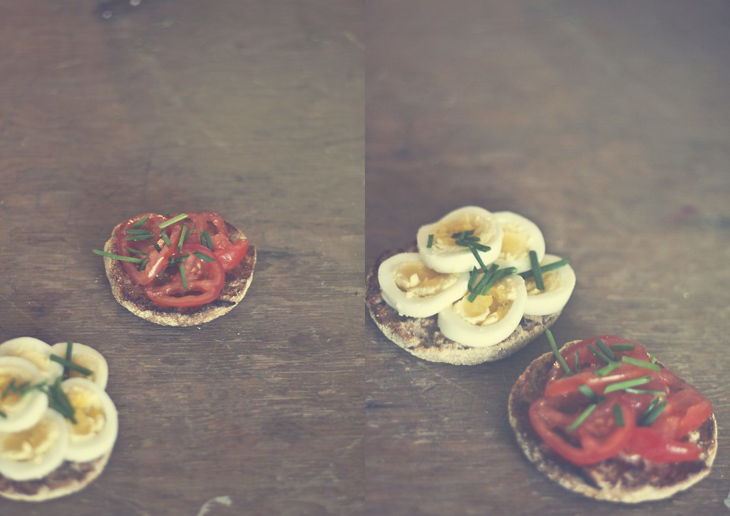 open face egg sandwich
