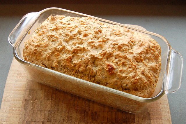 Cheddar Dill Beer Bread by Eve Fox, Garden of Eating blog, copyright 2010